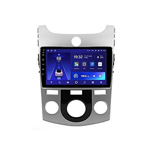 MGEM 2 DIN Radio Coche Reproductor Multimedia Apoyo Navegación de Google/FM/1080P Video/Aux Entrada/Radio MP5 Player, para Kia Cerato 2 TD 2008-2013 con Cámara Visión Trasera,Quad Core,4G WiFi 1+32