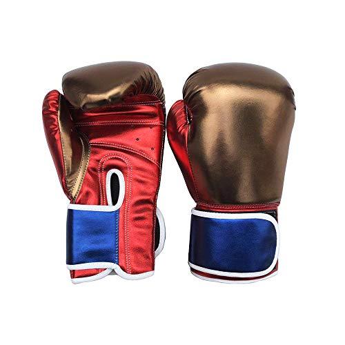 OVEA Guantoni Boxe Bambini,Shock Guantoni, Sparring Gloves,Adatto A Ragazzi E Ragazze per Praticare Sanda, Boxe, Taekwondo, Arti Marziali, Muay Thai,Marrone