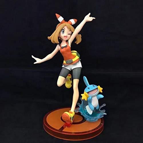 MMZ Figura Pokemon Zafiro Abedul y Mudkip Figura de acción Coleccionable Modelo de Juguete/decoración del hogar Dormitorio Ilustraciones de Regalos Anime
