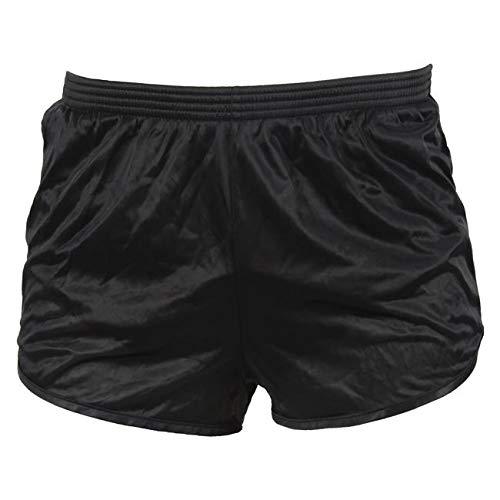 Military Running Shorts, Ranger Panties Black Silkies (2Xlarge)
