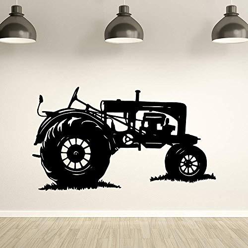 Tianpengyuanshuai Abnehmbarer Traktor Auto Wand Vinyl Wandtattoo Farm Arbeit Wandaufkleber Traktor Wandkunst Aufkleber 85X48cm