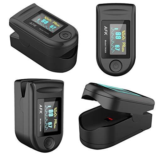 Digital Fingertip Pulse SpO2 Oximeter - Measures Blood Oxygen Level & Heart...