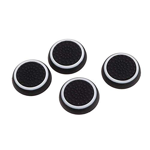 Romote Silikon Thumbsticks Joystick Kappen-Abdeckung für Ps3 / PS4 / Xbox One/Xbox 360 Wireless Controller 2 Paar/weiß und schwarz