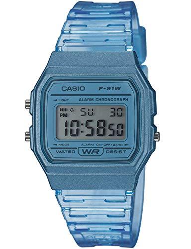 Casio Reloj Digital para Mujer de Cuarzo con Correa en Resina F-91WS-2EF