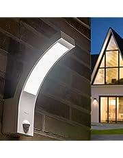 BROLLUX LED buitenlamp met bewegingsmelder IP54 10W wandlamp sensorlamp gebogen wandlamp