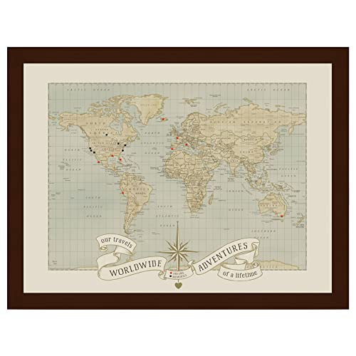 Push Pin Travel World Map