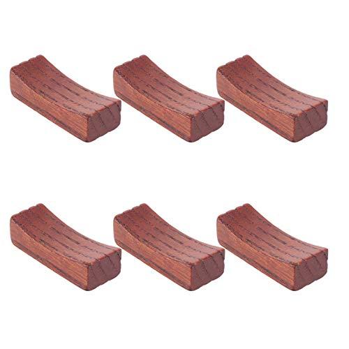 Angoily 6 Stück Holz Essstäbchenhalter Rest Steht Löffel Rest Abendessen Löffel Gabelhalter Holz Essstäbchenhalter Esstisch Dekoration