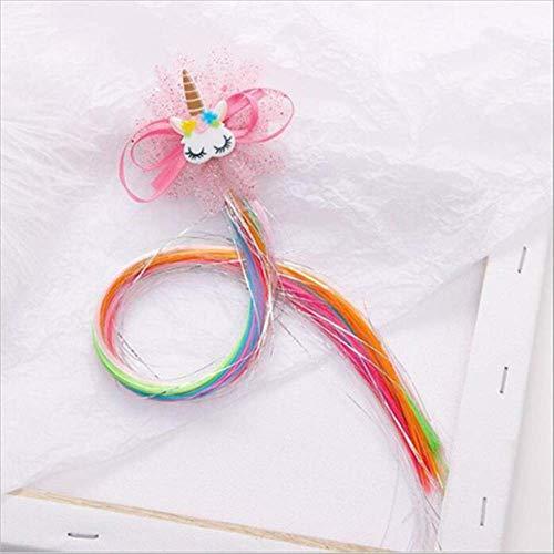 Child Twist Hair Clip Simple Barrette Butterfly Unicorn Hair Rope Accessories Kids Wig Rope Hair Head Wear 40cm unicorn S