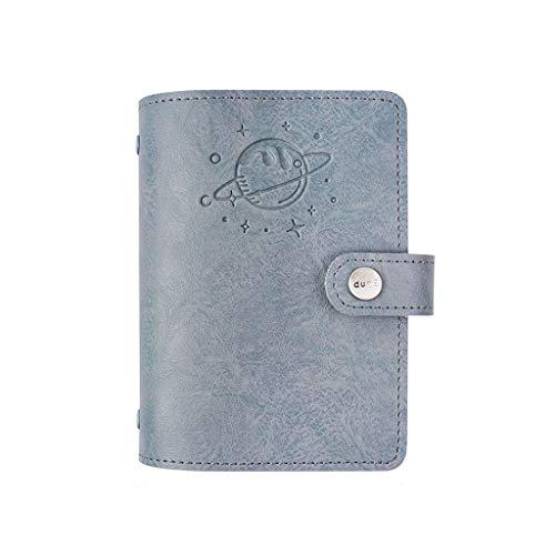 ZRL Hermoso diario diario de escritura de cuero recargable cuaderno de viajeros para hombres y mujeres, libro de lácteos, mejor regalo para adolescentes, niñas y niños, cuaderno duradero (color gris)