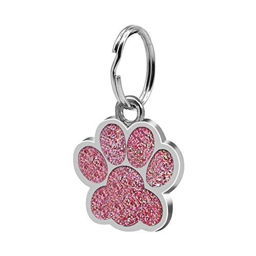 Brussels08 - 1 targhetta identificativa a forma di zampa di cucciolo di cane, gatto, collana con ciondolo a forma di zampa