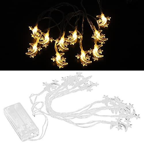 Vcriczk Luce Decorativa, luci da Festival con luci a Stringa Lampada da Vacanza dal Design Squisito 1,5x1,3 Pollici ABS per Decorazioni Eid