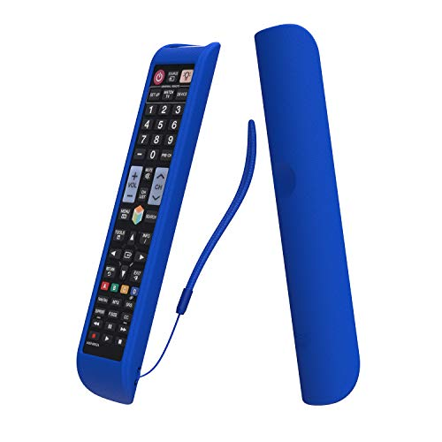 SIKAI CASE Funda Protectora Ajustado Compatible con Samsung Remoto AA59-00581A AA59-00582A BN59-01178B AA59-00790A BN59-01198Q, Antideslizante Silicona Carcasas, Resistente a los Golpes - Azul