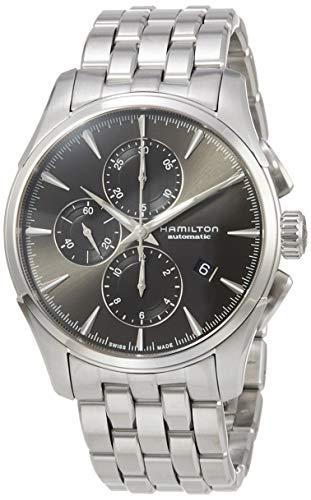 Reloj Hamilton Jazzmaster Auto Chrono Gris Brazalete Acero H32586181