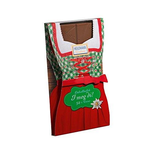 Flachtafel Dirndl Edelvollmilch Schokolade 37 g Tafel / Alpenserie