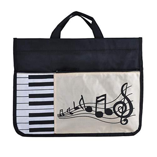 Ulapithi Musiktasche Musiknoten Handtasche Wasserdicht Musik Notenschlüssel Klavierschlüssel Muster Zum Lernen Einkaufen Reisen