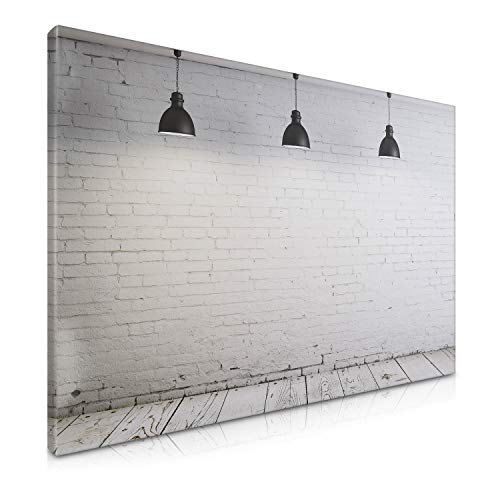 Navaris Magnetic Dry Erase Board - 24 x 36 inches Decorative White Board for Wall with Printed Design, Includes 5 Magnets and Marker - Industrial