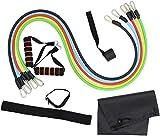 MTCWD 11 Piezas Conjunto de Bandas de Resistencia Ejercicio de Estiramiento Tire hacia Arriba Las Bandas de Goma para Entrenamiento de Fuerza Fitness Yoga Home Workout
