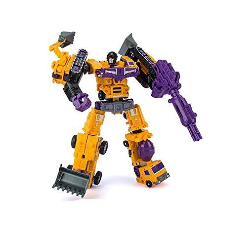 YDL-SEXRJZ Transformers Generations Combiner Wars GT Engineering Devastator Figura-11 Pollici Educazione precoce Modello Auto Robot per Bambini Bambini Compleanno Ragazzi Ragazze