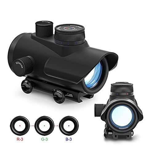 AOMEKIE Softair Red Dot Visier für 11mm/22mm Schiene Leuchtpunktvisier Rotpunktvisier mit Schutz und Tactical 3 Reticles für Jagd Softair und Armbrust