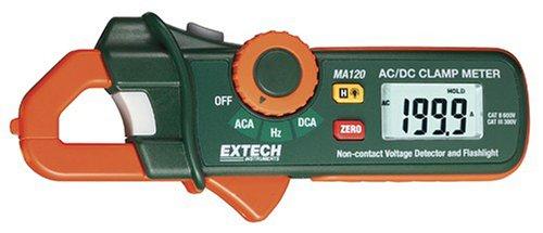 200 A AC/DC Mini pinza amperimétrica + Detector de voltaje Extech MA120
