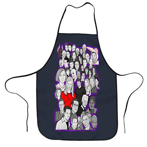 Buffy and Angel Collage Cocina Chef Pintura Divertida Delantales para Mujeres y Hombres