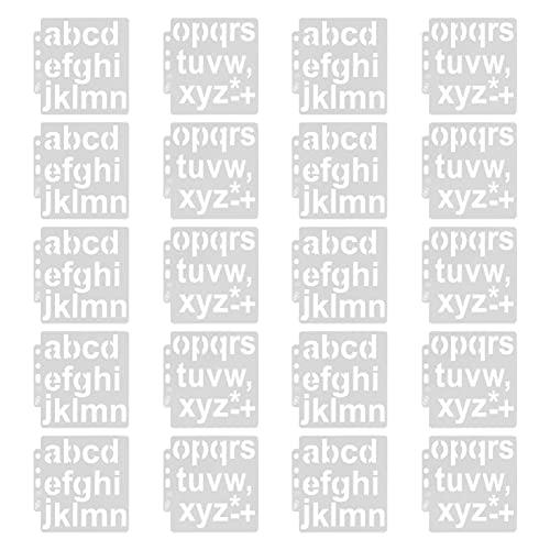 frenma Stencil, Plantilla De Letra Plantillas De Números para Spray para Almohadilla De Sello