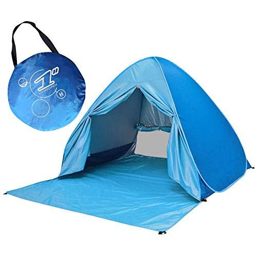 Feng Rui Tienda de Playa Automático Instantánea Tienda de Campaña Pop Up Carpa para Playa Anti UV Refugio Playa Camping Jardín Pesca y Picnic