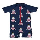 Sterntaler Baby-Jungen Schwimmanzug Robbe Badeanzug, Marine, 80