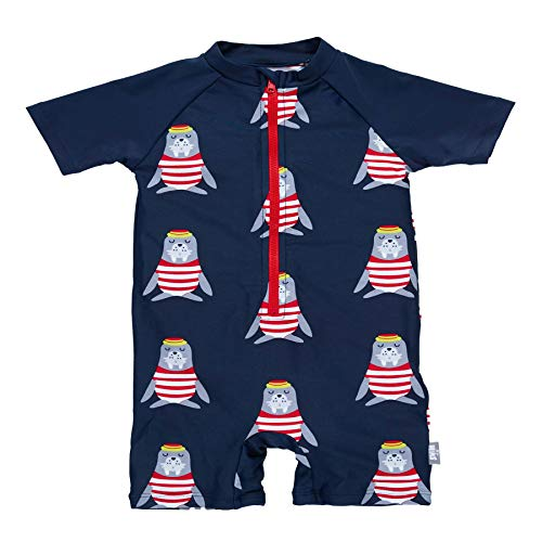 Sterntaler Baby - Jungen Schwimmanzug mit Windeleinsatz, UV-Schutz 50+, Alter: 6-12 Monate, Größe: 74/80, Farbe: Marine