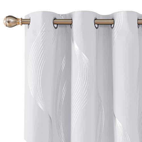 cortinas blancas opacas habitacion