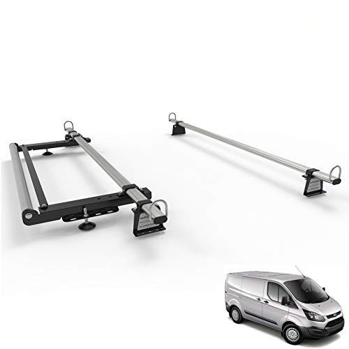 Autorack WorkReady 2 Barras de Techo para Furgoneta con Rodillo para Ford Transit Custom 2012 en adelante