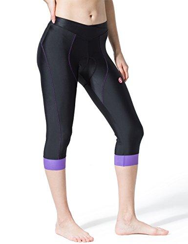 Souke Sports Damen 3/4 Radlerhose 4D gepolstert Atmungsaktiv Quick-Dry Fahradhose Damen Gepolstert 3/4 Radsport Hose - 3