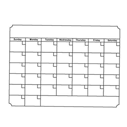 Borrado en seco mensual Calendario Establecer calendarios magnéticos de la tarjeta blanca semanal Refrigerador Cocina Nevera Planner