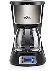 Solac CF4031 Stillo Digital Cafetera Goteo, 1000 W, 14 Cups, Acero Inoxidable
