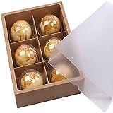 Chilly, Geschenkschachteln mit Sichtfenster für hausgemachte Kekse / Plätzchen / Muffins / Brownies, dekorativ 6 Lattices