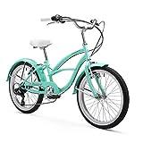 Firmstrong Urban Girl Cruiser Bike, 20 Inches, 7-Speed, Mint Green
