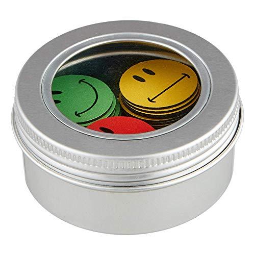 Smileyboard Smileys Magnete - 60 vielseitige Emoji Magnete für Magnettafeln - ø 2,5cm - Je 20x grüne, gelbe und rote