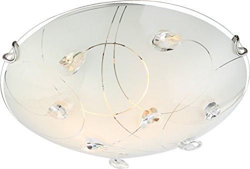 GLOBO Lampada da soffitto a 2 luci, in Vetro e Metallo