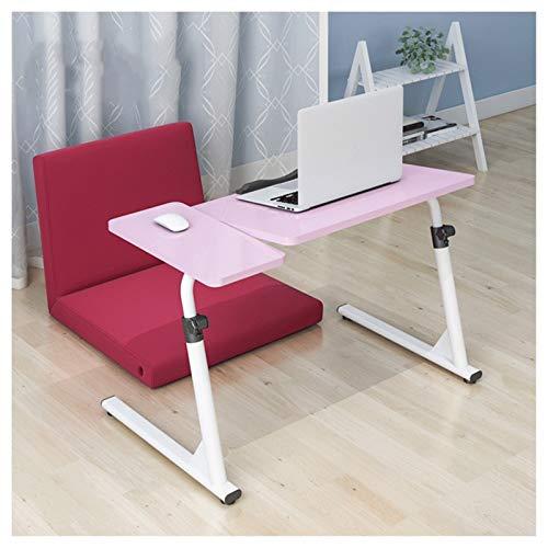 FHT Pflegetisch Pflegetisch Multifunktion Neigungs Und Höhenverstellbar Geeignet for Schlafzimmer, Wohnzimmer, Sofa Beistelltisch Notebooktisch (Color : Pink)
