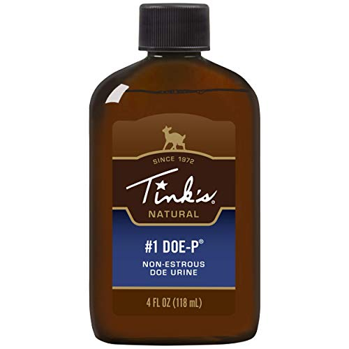 Tink's #1 Doe-P Non Estrous Deer Lure | 4 Fl Oz Spray Bottle | All Season Deer Attractant Scent Lure, 100% Natural Deer Urine, Hunting Accessories, | Easy Application