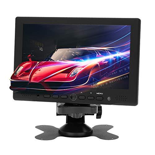 KKmoon Mini Monitor 7 Zoll TFT LED HD PC/AV HDM-Interface Monitor VGA Eingang Empfänger mit Kopfhörerbuchse PAL/NTSC Video Displayer für Überwachung, CCTV Kamera, Überwachungssystem, PC-Anzeige