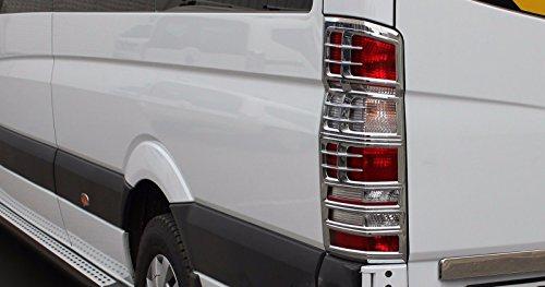 Juego de cubiertas para faros traseros de ABS cromado para Sprinter [2006-2017] [2 piezas]