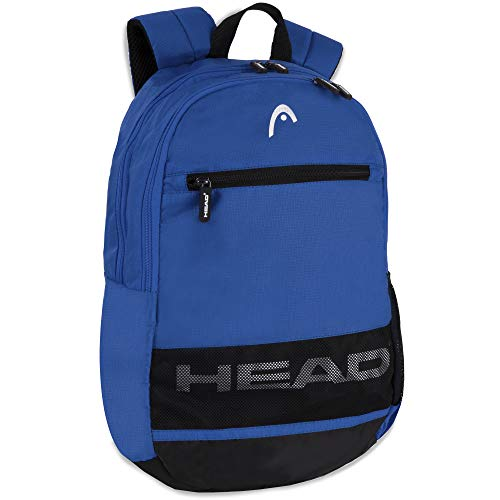 Sporty Backpack with Two Compartments – Padded Laptop Backpack for Men and Women for College, Work, Sports, and Travel (Blue)