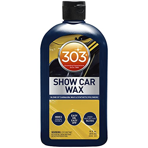 303 Show Car Wax - Blend of Carnauba Wax and Synthetic Polymers - Hides Minor Swirls - Deep...