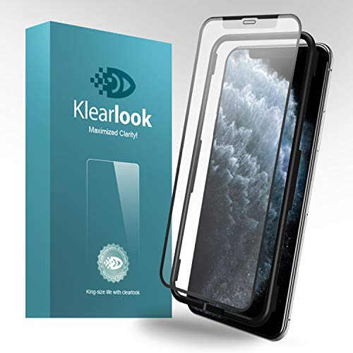 11 Pro Matte Screen Protector,Klearlook Tempered Glass Protector Anti-Fingerprint Anti-glare Full Coverage Case Friendly Compatible with iPhone 11 Pro 5.8 with Easy Install Tool Kit