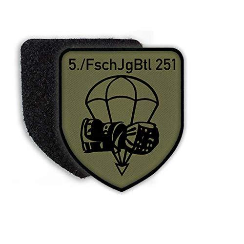 Copytec Patch 5 FschJgBtl 251 Calw Fallschirmjägerbataillon Kompanie B&eswehr Aufnäher Fallschirmjäger Wappen AGA #23068