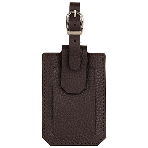 David Hampton Leather Luggage Tag Cocoa Richmond