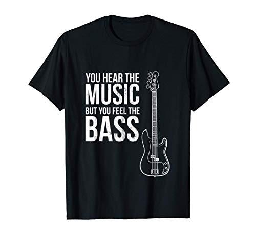 ¡Escuchas la música pero sientes el bajo! Guitarra Camiseta