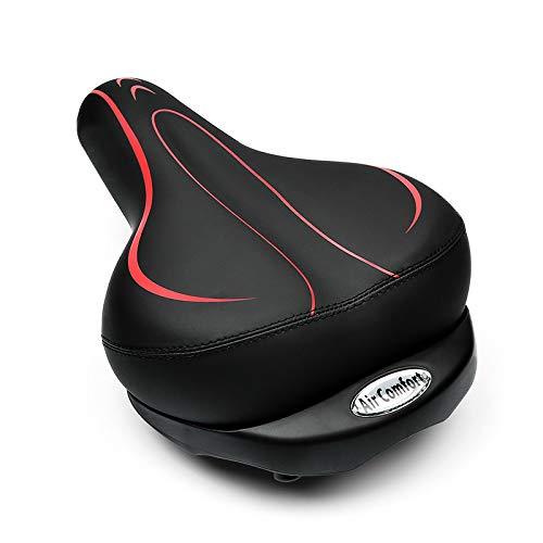 YUNMEI Fahrradsitz Aufblasbare Fahrradsättel Verdicken Breites Kissen Atmungsaktives MTB-fahrradsitzpolster Stoßfeste, Weiche Schwamm-fahrradsattelteile