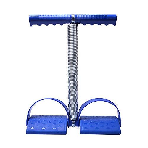 WXH 2 STÜCKE Elastische Sitzen Zugseil Federspannung Fußpedal, Bauch Beintrainer Bauch Trimmer Ausrüstung, Multifunktionsfeder Design, Sport Fitness,Blue
